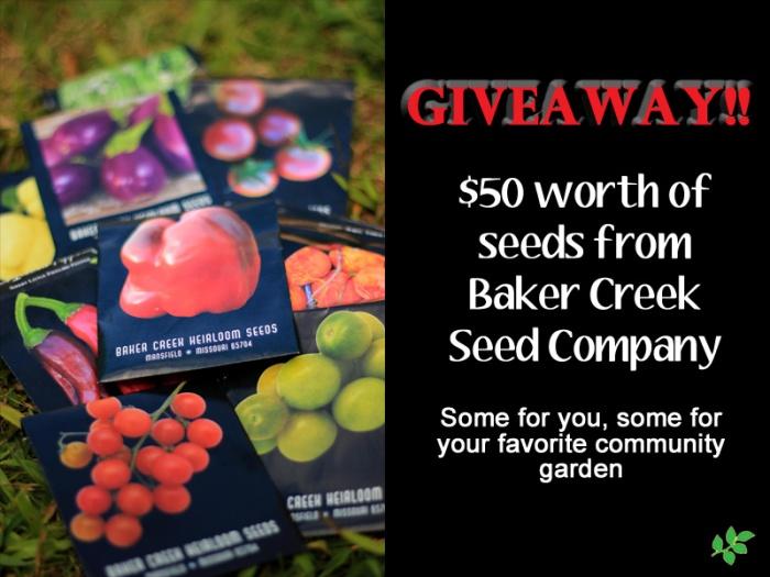 baker creek giveaway
